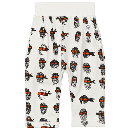 Indikidual White Finger Print Harem Trousers White