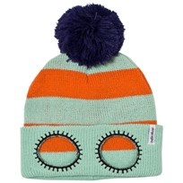 Indikidual Mint Orange Striped Beanie Mint