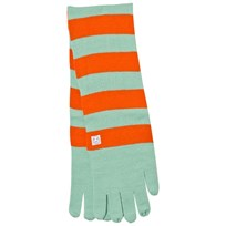 Indikidual Mint Orange Striped Gloves Scarf Mint