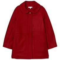 Chloé Red Wool Coat with Gold Detail 953