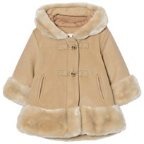 Chloé Camel Wool and Faux Fur Hooded Coat 231