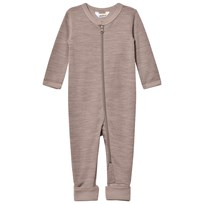 Joha Light Brown Wool and Organic Cotton One-Piece BROWN