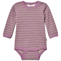 Joha Long Sleeve Striped Baby Body Purple Purple