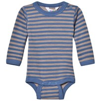 Joha Long Sleeve Striped Baby Body Blue Blue