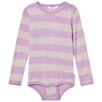 Joha Wide Stripe Long Sleeve Baby Body Purple Purple
