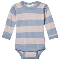 Joha Wide Stripe Long Sleeve Baby Body Blue Blue