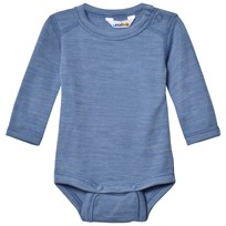 Joha Blue Melange Long Sleeve Baby Body Blue