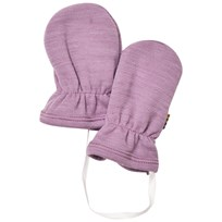 Joha Purple Melange Baby Mittens Purple