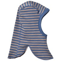 Joha Double Layer Striped Balaclava Blue Blue