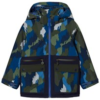 Stella McCartney Kids Navy Camo Ski Jacket 2864