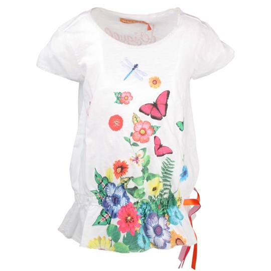 Desigual T-Shirt Tomillo Blanco White
