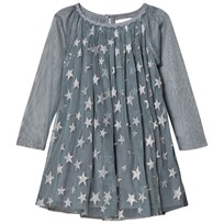 Stella McCartney Kids Glitter Misty Klänning Blå 3065