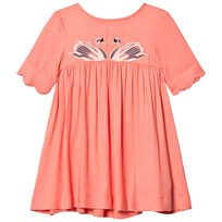 Stella McCartney Kids Pink Leonilla Swan Dress 6641