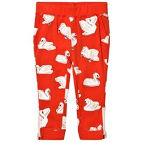 Stella McCartney Kids Red Swans Print Track Pants 6565