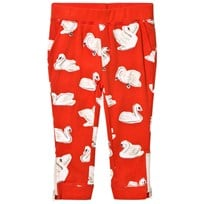 Stella McCartney Kids Red Zoey Swans Track Pants 6565