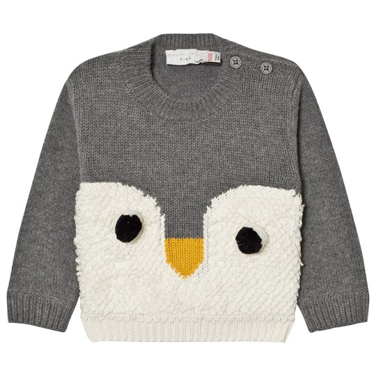 Stella McCartney Kids Grey Ira Knit Penguin Jumper 1463