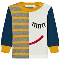 Stella McCartney Kids Lucky K Intarsia Face Tröja Blå 9232