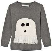 Stella McCartney Kids Ghost Intarsia Tröja Grå 1463