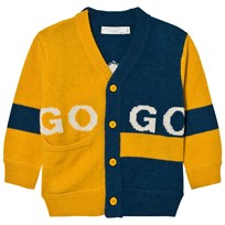 Stella McCartney Kids Intarsia Eagle Kofta Gul/Blå 7065