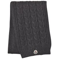 Moncler Grey Knit Scarf Black
