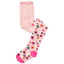 Le Big Pink Star Print Tights 402