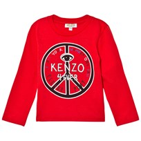 Kenzo Red Logo and Peace Sign Print Tee 031