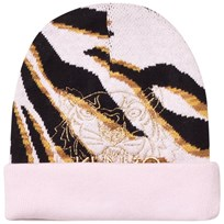 Kenzo Pink Multi Animal Print and Tiger Beanie 32