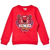 Kenzo Red and Multi Embroidered Tiger Sweatshirt 031