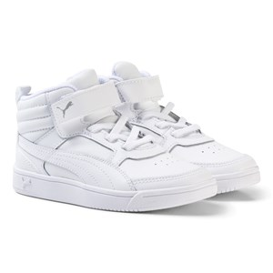 Image of Puma Rebound Street v2 Leather High Tops Trainers 38 (UK 5) (3065505397)