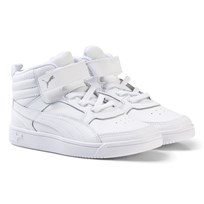 Puma Rebound Street v2 Leather High Tops Trainers White
