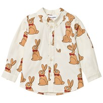 Mini Rodini Rabbit Shirt Off White White
