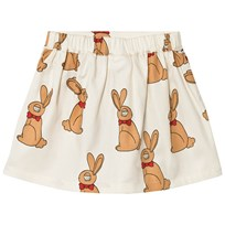 Mini Rodini Rabbit Skirt Off White White