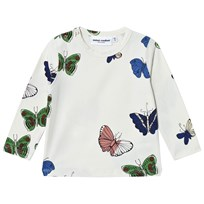 Mini Rodini Butterflies Tröja Off White White