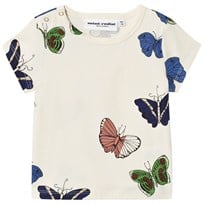 Mini Rodini Butterflies T-shirt Off White White