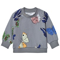 Mini Rodini Butterflies Sweatshirt Dark Grey Black