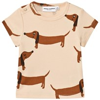 Mini Rodini Dog T-shirt Beige Beige