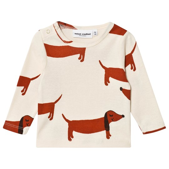 Mini Rodini Dog Tee Off White White