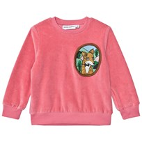 Mini Rodini Fox Velour Sweatshirt Pink Pink