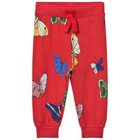 Mini Rodini Butterflies Sweatpants Red Red