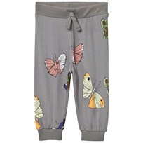 Mini Rodini Butterflies Sweatpants Dark Grey Black