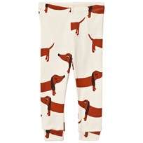 Mini Rodini Dog Leggings Off White White
