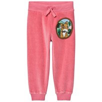 Mini Rodini Fox Velour Sweatpants Pink Pink