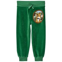 Mini Rodini Fox Velour Sweatpants Green Green
