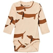 Mini Rodini Dog Baby Body Beige Beige
