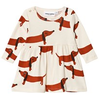 Mini Rodini Dog Dress Off White White