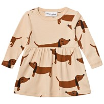 Mini Rodini Dog Dress Beige Beige