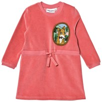 Mini Rodini Fox Velour Dress Pink Pink