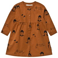 Tinycottons No-Worry Dolls Woven Dress Brown/Black Brown / Black