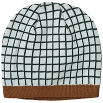 Tinycottons Grid Beanie Light Blue/Dark Navy Light Blue / Dark Navy
