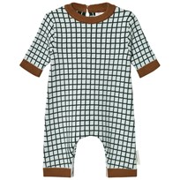 Tinycottons Grid Bodysuit Ljusblå/Mörk Marinblå Light Blue / Dark Navy
